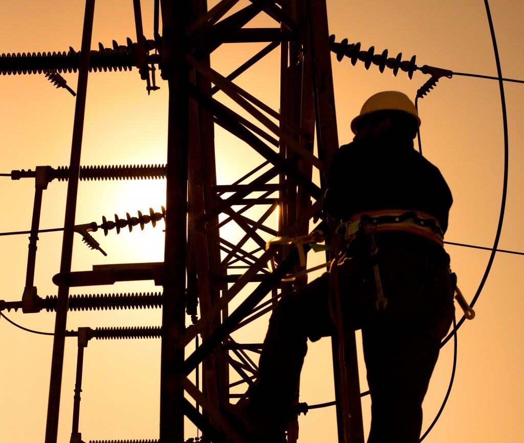 worker repairing electrical infrastructure