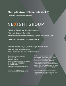 Nexight Group MAS Catalog and Price List